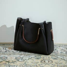 〔モノコムサ〕 ポーチ付き 5wayバッグ A4サイズ (ブラック)