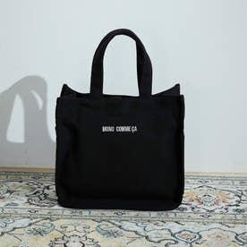 〔モノコムサ〕 キャンバス ミニトート (ブラック)