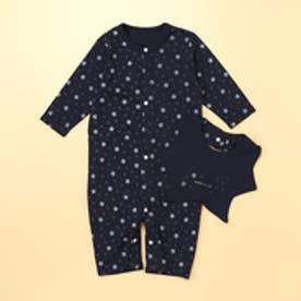 長袖ツーウェイオールと星型スタイが入ったギフトセット(50-70サイズ) (ネイビー)