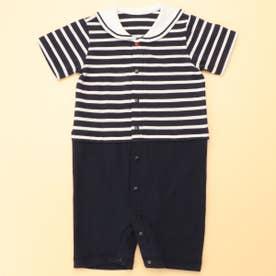 セーラーカラー 半袖ツーウェイオール(50-70サイズ) (ネイビー)