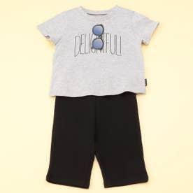 半袖Tシャツと7分丈パンツが入ったギフトセット(80・90サイズ) (ライトグレー)