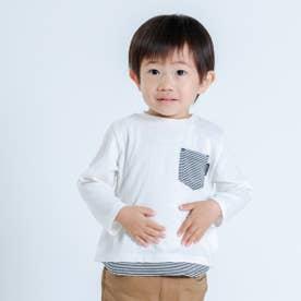 ヒッコリー使い 長袖Tシャツ (ホワイト)