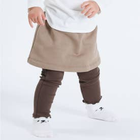 レギンス付きスカート(80・90サイズ) (ブラウン)