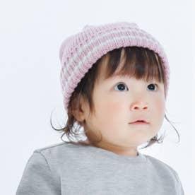 うさぎ耳 ニットキャップ(44-50サイズ) (ピンク)