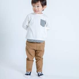裏起毛 ロングパンツ(80・90サイズ) (キャメル)