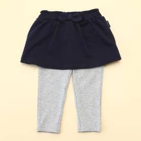 ミニ裏毛 レギンス付きスカート(80・90サイズ) (ネイビー)