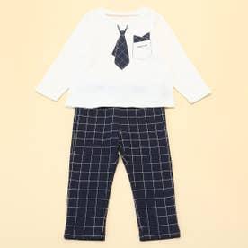 長袖Tシャツと10分丈パンツが入った ギフトセット(80・90サイズ) (ホワイト)