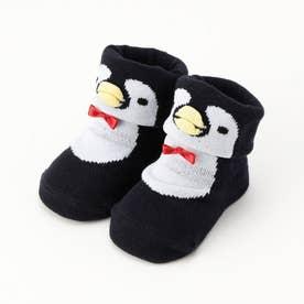 脱げにくい!シロクマ・ペンギンソックス (ネイビー)