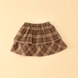 タータンチェック ブルマ付きスカート(80・90サイズ) (ベージュ)