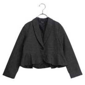 グレンチェックジャケット(110-130cm) (チャコール)