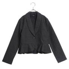 グレンチェックジャケット(140-160cm) (チャコール)