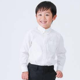 イージーケア ボタンダウン 長袖シャツ (100cm~130cm) (ホワイト)
