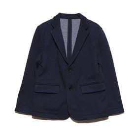 デニム風 ポンチジャケット(100-130cm)【オケージョン・フォーマル・セットアップ】(ネイビー)