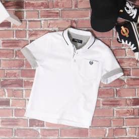 ベーシック 鹿の子 半袖ポロシャツ (ホワイト)