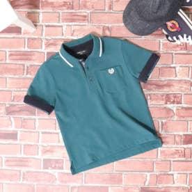 ベーシック 鹿の子 半袖ポロシャツ (グリーン)