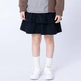 ジャージーツイル キュロットスカート (ブラック)