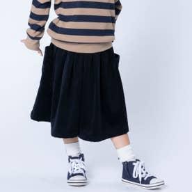 シャツコールキュロットスカート (ブラック)