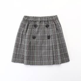 チェック柄スカート (ブラック)
