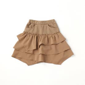 アンダーパンツ付き スカート (キャメル)