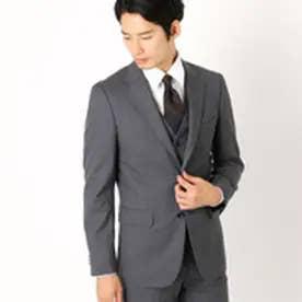 〈セットアップ〉 ウールギャバ テーラード スーツジャケット (グレー)