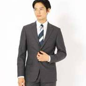 《セットアップ》ブライトステッチストライプ スーツジャケット (グレー)