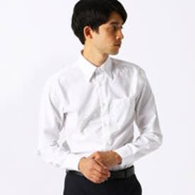 《イージーケア・抗菌防臭加工》 市松柄 レギュラーカラーシャツ (ホワイト)