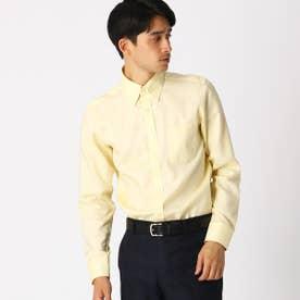 《イージーケア・抗菌防臭加工》 オックス ボタンダウンカラーシャツ (イエロー)