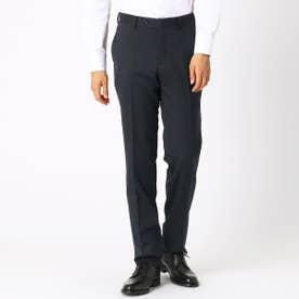 《セットアップ》 ウールギャバ スーツパンツ (ネイビー)