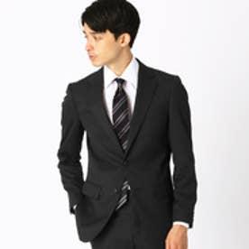 《セットアップ》 ウールギャバ スーツジャケット (ブラック)