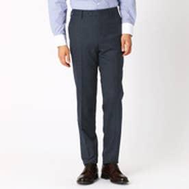 〈セットアップ〉 デニムライク ミルドストレッチ レギュラーモデル スーツパンツ(ネイビー)