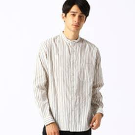 バンドカラーシャツ (ホワイト)