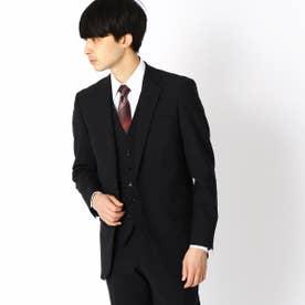 《セットアップ》 尾州ファブリック 2WAYストレッチトロ クラシックモデル スーツジャケット (ブラック)