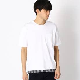 フェイクレイヤード Tシャツ (ホワイト)