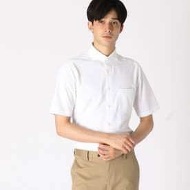 《吸水速乾》《防シワ》《イージーケアー》 トリコットニット 半袖ドレスシャツ (ホワイト)