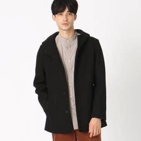 フード付きコート (ブラック)