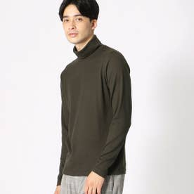 タートルネック Tシャツ (カーキ)