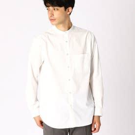 バンドカラー ホワイトシャツ (ホワイト)