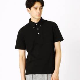 ボタンダウンポロシャツ (ブラック)
