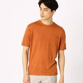 リネン ニットTシャツ (オレンジ)