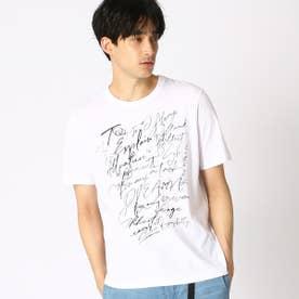プリント クルーネックTシャツ (ホワイト)