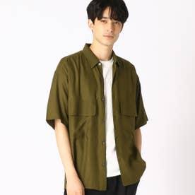 ダブルポケット ワークシャツ (カーキ)