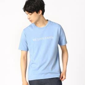 プリントTシャツ (サックス)