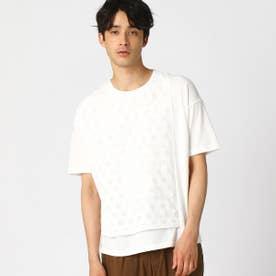 籠目柄(かごめ柄) Tシャツ (ホワイト)