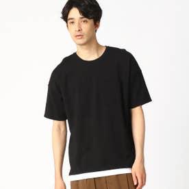 フェイクレイヤード Tシャツ (ブラック)