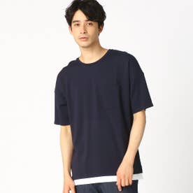 フェイクレイヤード Tシャツ (ネイビー)