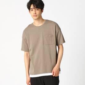 フェイクレイヤード Tシャツ (ベージュ)
