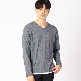 《セットアイテム》 Tシャツ × Vネックプルオーバー (ブルー)