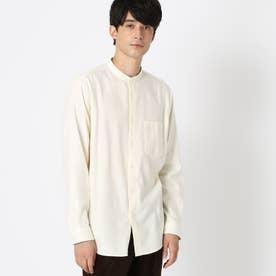バンドカラー ネルシャツ (アイボリー)
