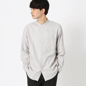 バンドカラー ネルシャツ (グレー)
