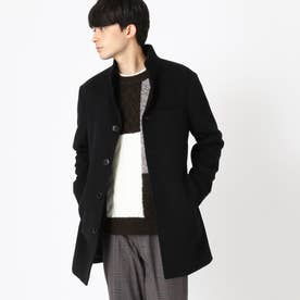 スタンド カラー ショート コート (ブラック)